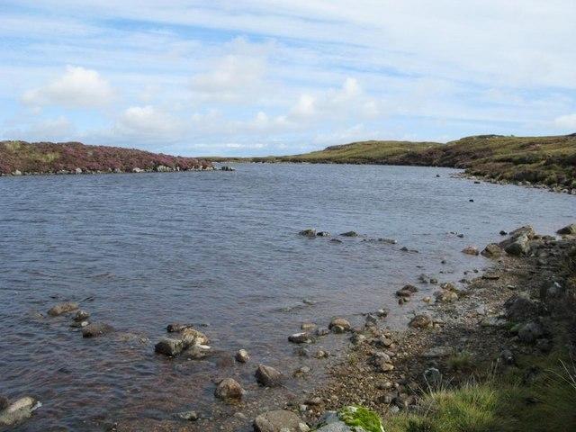 Loch Diridean shoreline