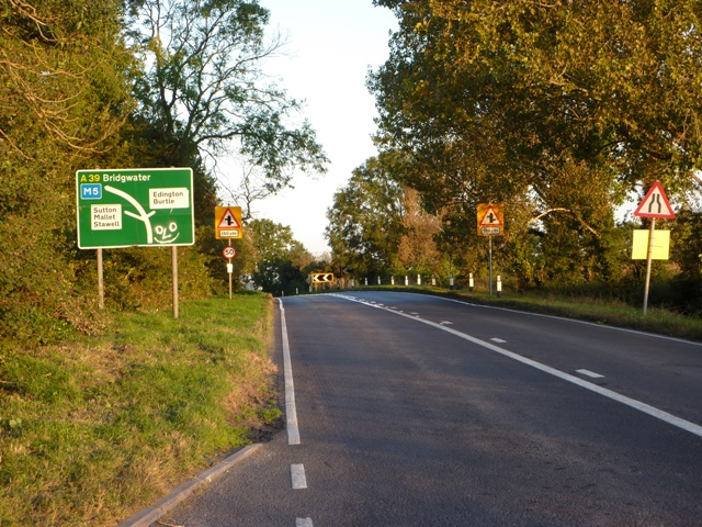 Roadsigns on A39