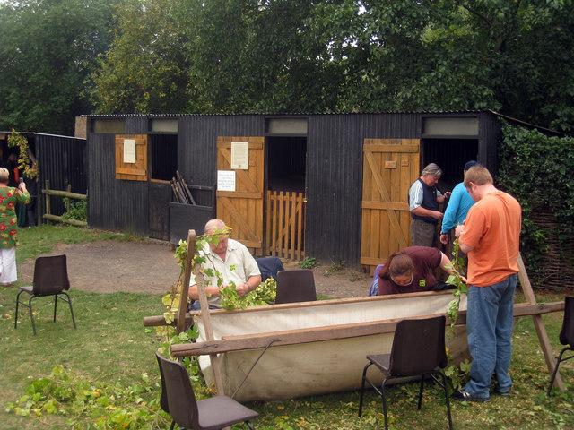 Hopper Huts at The Museum of Kent Life, Cobtree, Lock Lane, Sandling, Kent