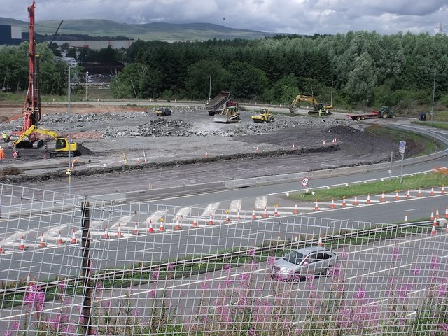 Mollins Interchange construction