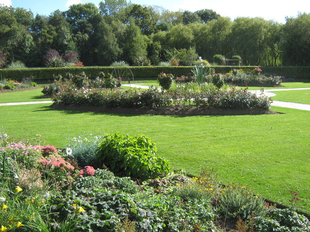 Formal garden in St Oswald's Park