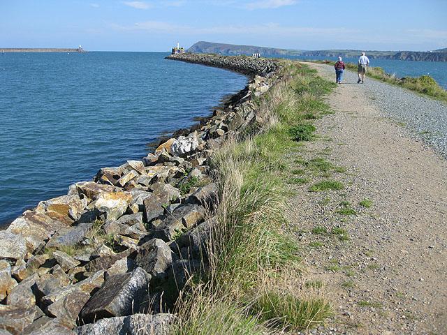 Ambling along the East breakwater