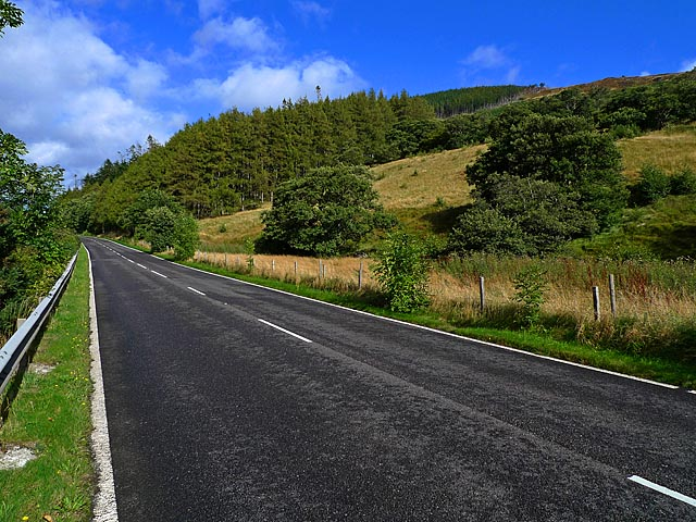 The A 835 near Inverlael Farm