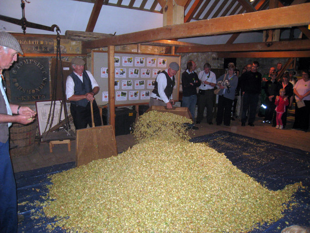 Hop Cooling Floor of the Oast House at The Museum of Kent Life