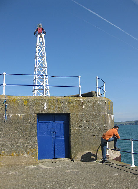 End of the East breakwater