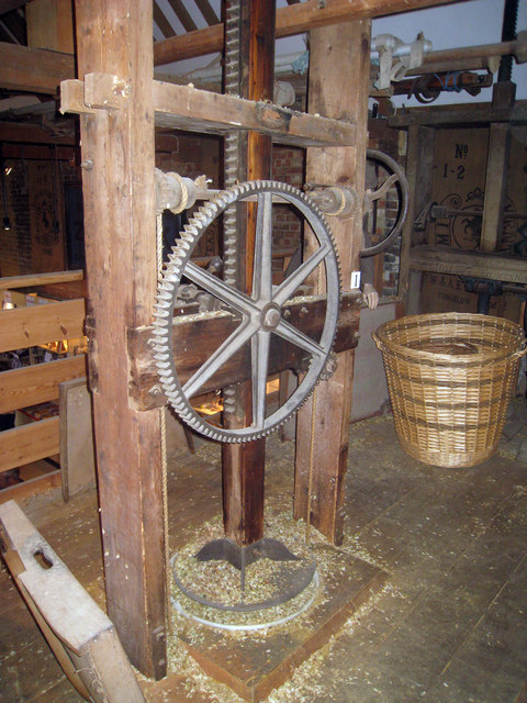 Hop Press of the Oast House at The Museum of Kent Life
