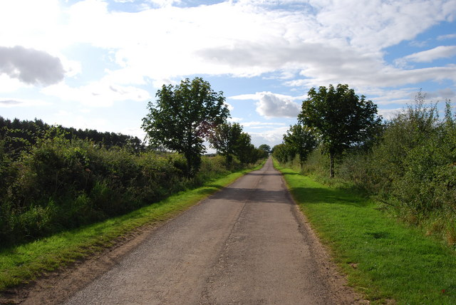 Single track lane, between Duddo and the road to Ford and Etal