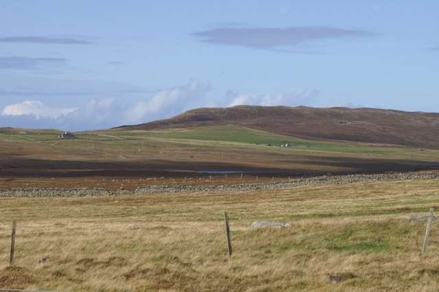 View towards Valla Field from Mailand, Uyeasound