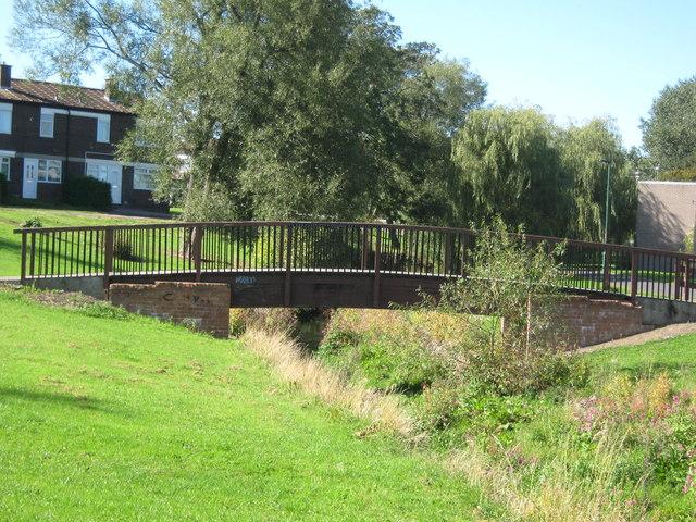 Footbridge over Woodham Burn Newton Aycliffe