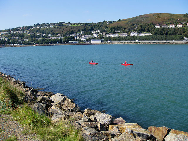 Red kayaks in Fishguard  harbour