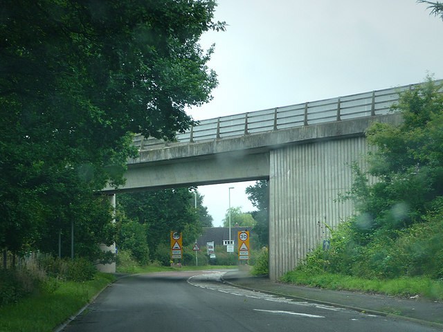 A49 bridge over the B4361