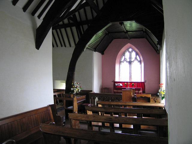 Inside of the Llanrhwydrus Church