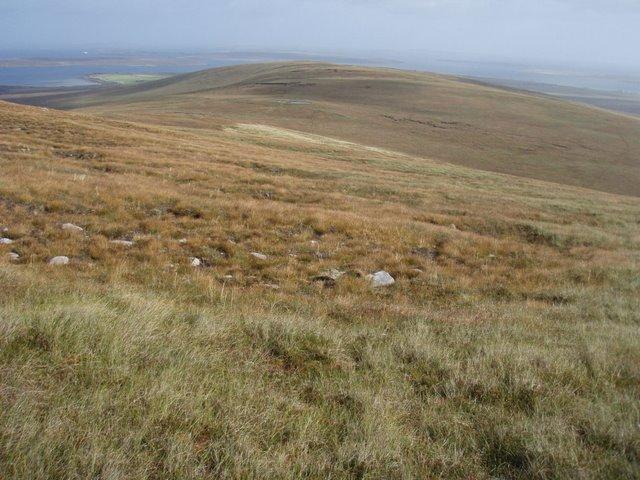 Moorland on ridge to Moi Fea
