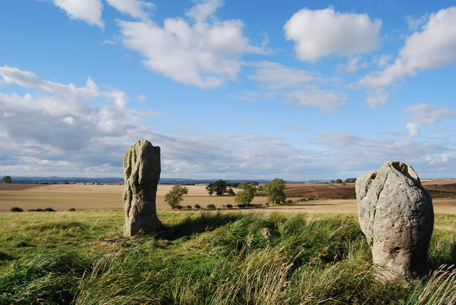Duddo standing stones, 2 of the 5