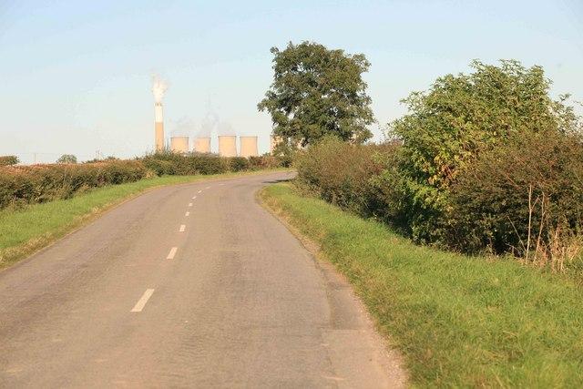 Cottam power station over the hill