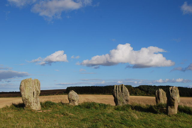 Duddo stone circle, all 5 stones