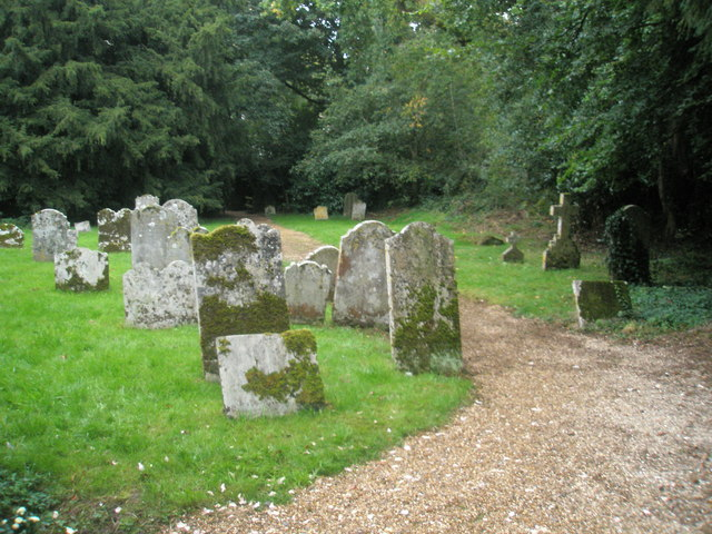 The churchyard at St Mary Magdalene, West Tisted