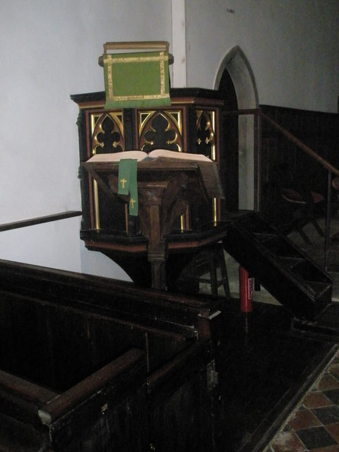 Lectern and pulpit within St Mary Magdalene, West Tisted