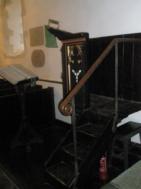 Pulpit and lectern within St Mary Magdalene, West Tisted