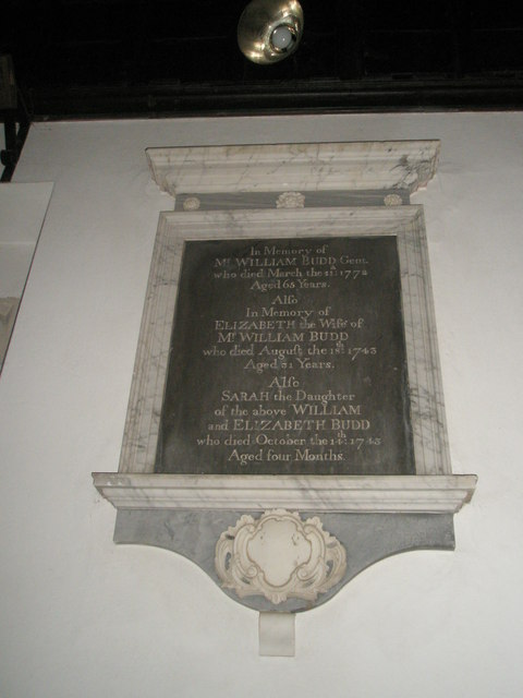 Memorial near the altar at St Mary Magdalene, West Tisted