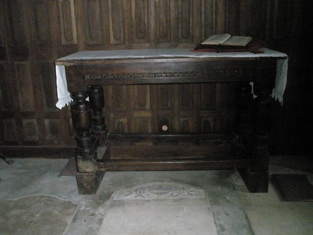 A simple altar at St Mary Magdalene, West Tisted