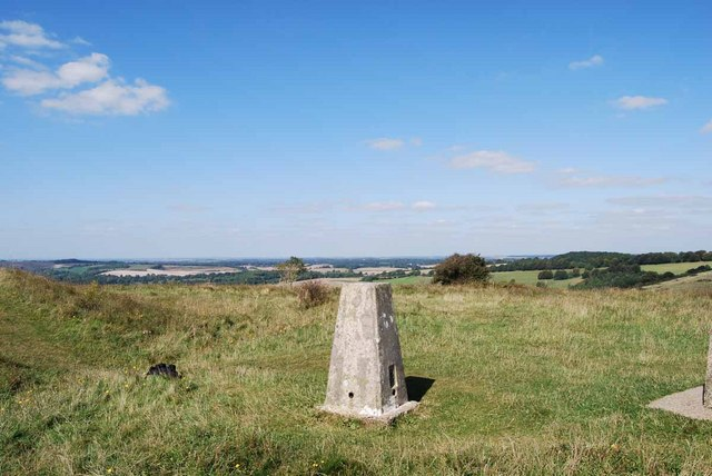 Trig point on Old Winchester Hill