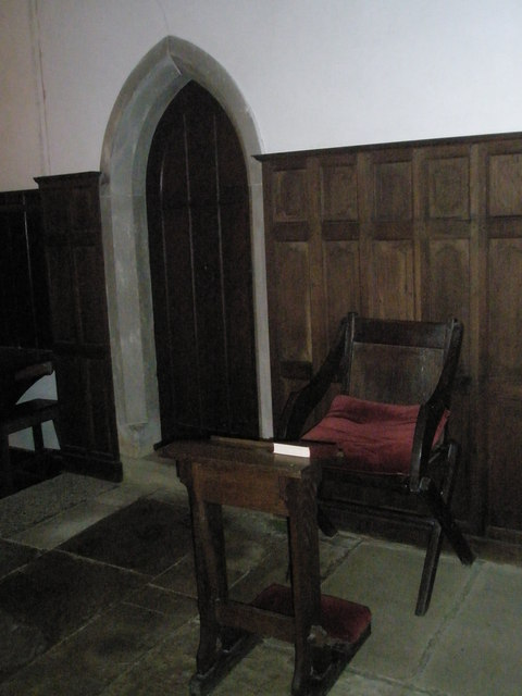 The incumbent's chair at St Mary Magdalene, West Tisted