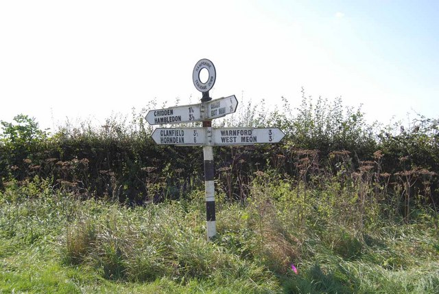 Signpost at Teglease Down