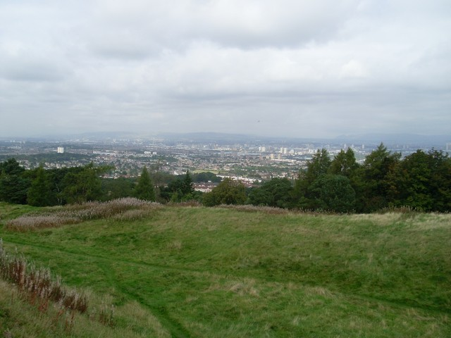 Across Glasgow from the Cathkin Braes