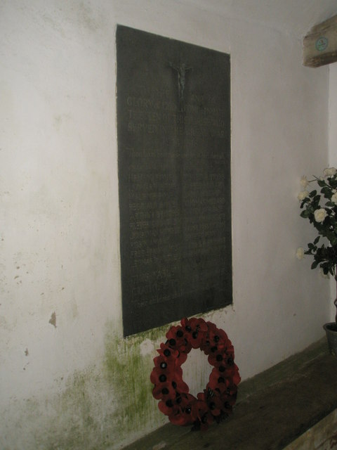 War memorial in the porch at St Mary Magdalene, West Tisted