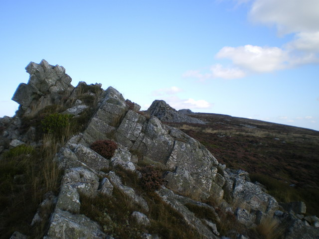 The first Stiperstones tor - south of Cranberry Rock