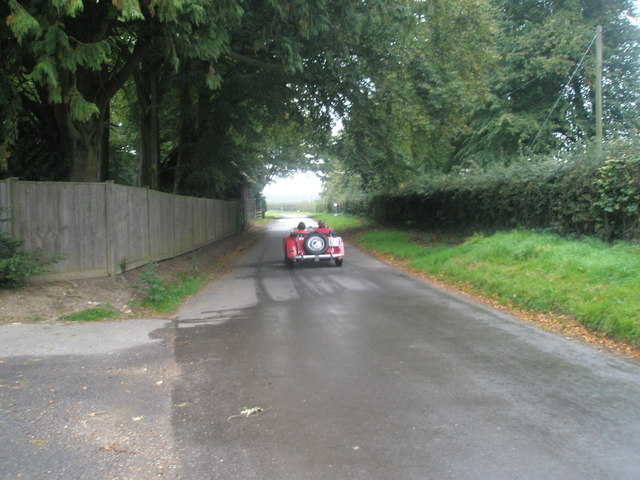 Two seater passing through West Tisted