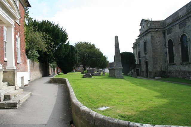 Church Walk, Blandford Forum, facing east.