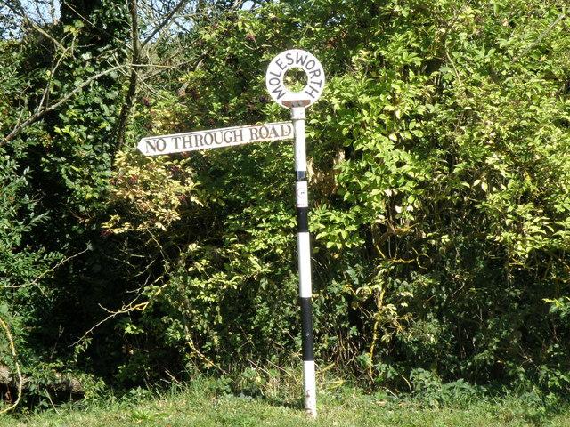 No through road in Molesworth
