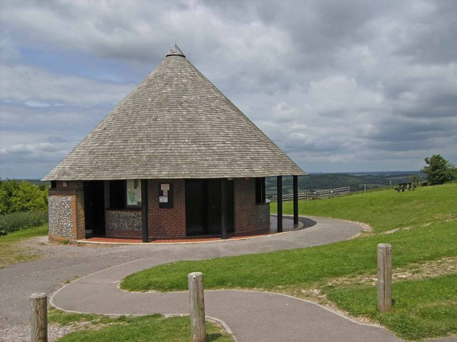 Toilets on Butser Hill