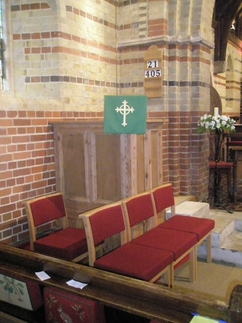 The pulpit at St James, Clanfield