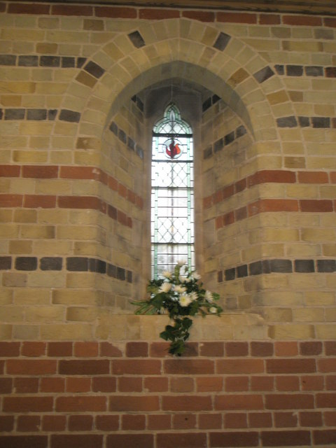 Floral display within St James, Clanfield
