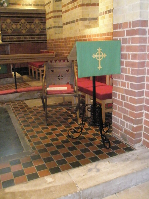 The lectern at St James, Clanfield