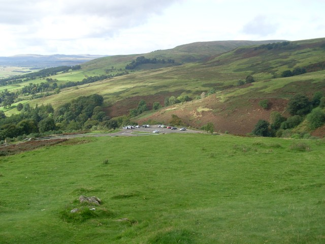 The car park in the Campsie Fells