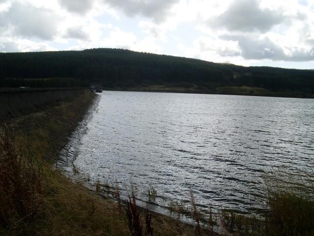 Dam of the Carron Valley Reservoir