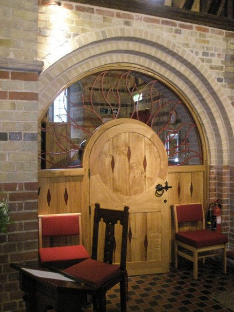 The new vestry door at St James, Clanfield