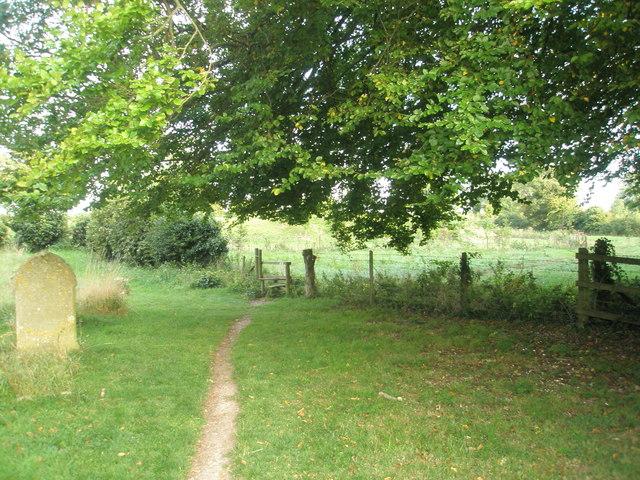 Stile in Chalton Churchyard (1)