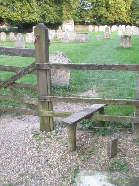 Stile in Chalton Churchyard (3)