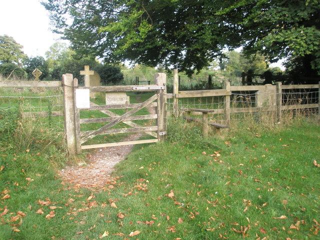 Stile in Chalton Churchyard (2)