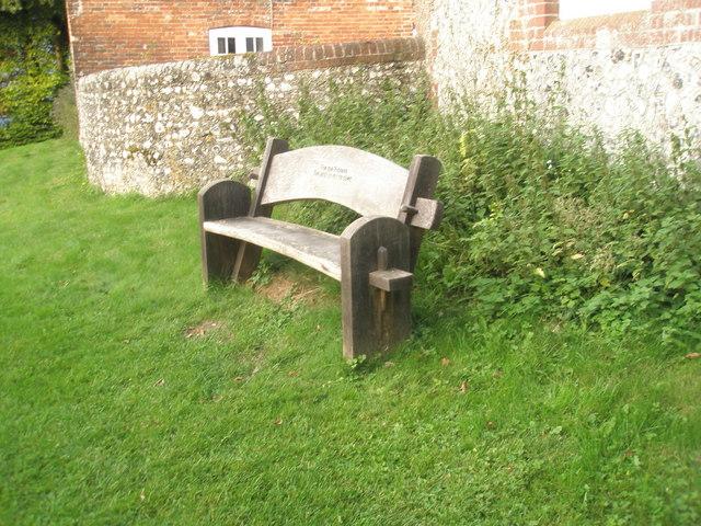 Simple seat in Chalton village centre
