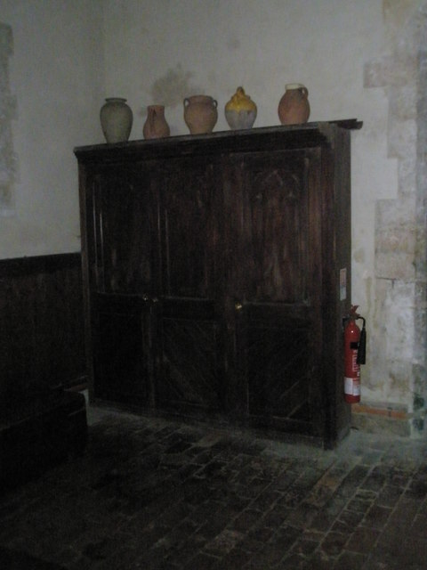 Simple cupboard within St Michael, Chalton