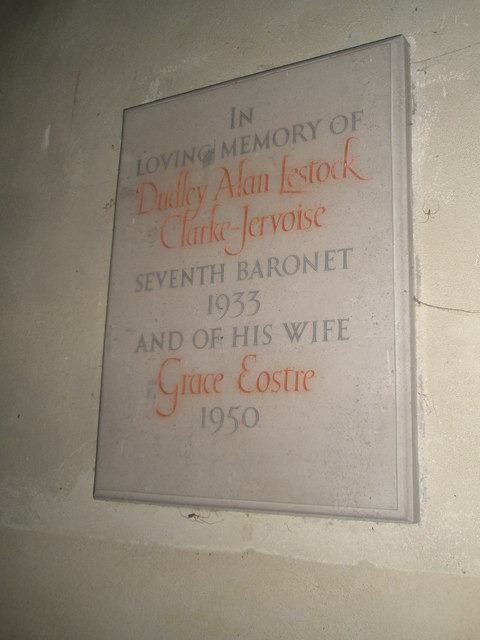 Simple memorial on the south wall at St Michael, Chalton