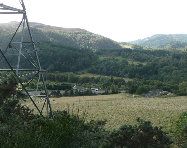 Pylons heading up the Tummel Valley