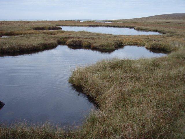 Lochans on the east ridge of Knap of Trowieglen
