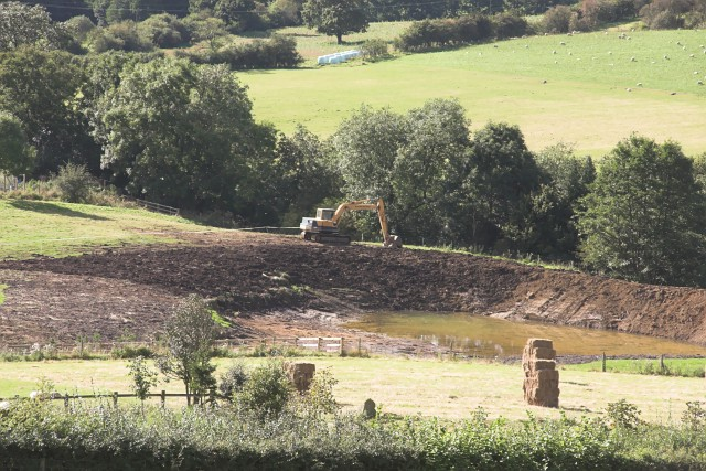 Pond construction near Low Bell End Farm